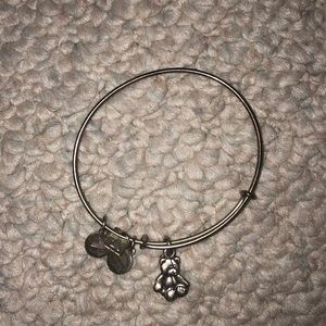Teddy bear Alex and ani bracelet